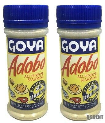 2 Pack Goya  Adobo All Purpose Seasoning Sin Pimienta-Without Pepper 8 oz (226g)