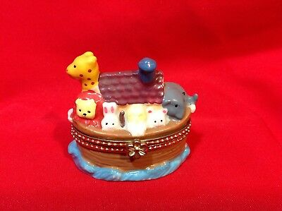 Giftco Inc NOAH'S ARK Ceramic Trinket/Ring Box