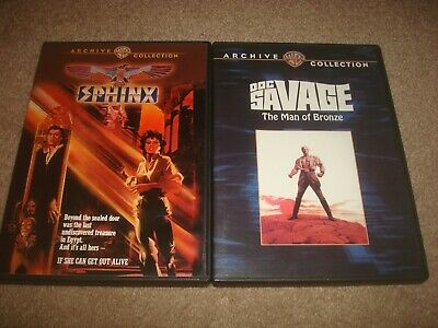 Sphinx + Doc Savage DVD LOT Warner Archive Collection Classic Movie Adventure