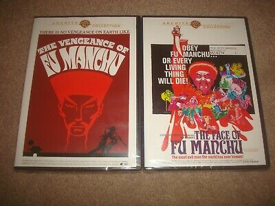 SEALED The Face of Fu Manchu + Vengeance DVD LOT Warner Archive Collection NEW
