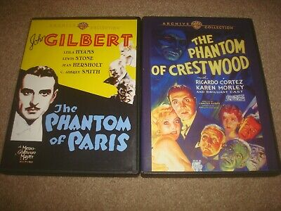 The Phantom of Crestwood + Paris DVD LOT Warner Archive Collection Classic Drama