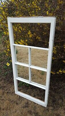 Vintage Sash Antique Wood Window, One Of A Kind 40X19 Mirrors Distressed Rustic