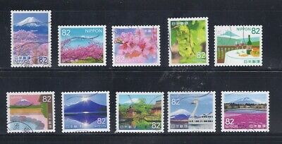 Japan 2018 My Journey 82Y Complete Used Set Sc# 4190 a-j