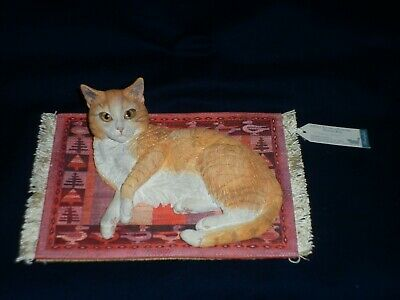 Country Artist Lesley Anne Ivory Cats 02021 D2 On A Peruvian Woven Carpet