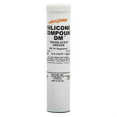 Jet-Lube 73550 Silicone DM Dielectric Grease Translucent 14 oz Cartridge 3 NLGI