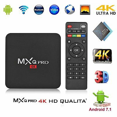 MXQ PRO 4K IPTV BOX Smart XBMC Android 7.1 Penta Core WiFi 8GB MiniPC 64bit@W