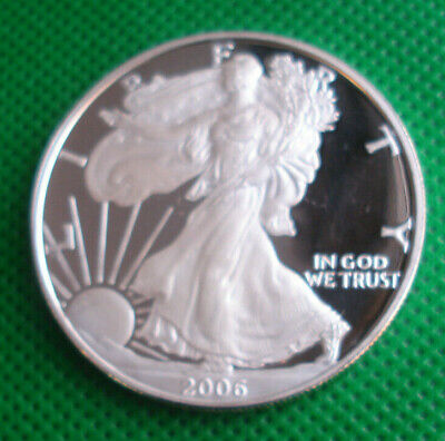 2006 1 oz Proof Silver Liberty American Eagle 999 Fine Coin w/coin casule no box