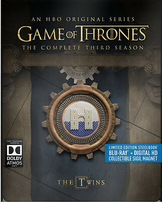 Game Of Thrones: The Complete Third Season - 5 DISC SET (2016, Blu-ray New)