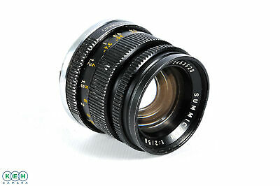 Leica 50mm f/2 Summicron Rigid M Mount Lens, Black {39}