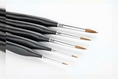 5 Pcs Best Professional Sable Detail Paint Brush,High Quality Miniature...