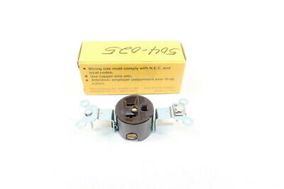 Hubbell 5351 Receptacle 2p 3w 20a Amp 125v-ac