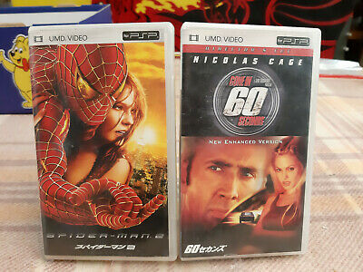 2x Sony PSP UMD Filme Japan Versionen Spider-Man 2 + Gone in 60 Seconds