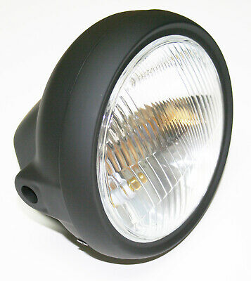 """Replacement 6 1/4"""" Headlamp Assembly ~ All Black ~ Cafe Chopper NEW!"""