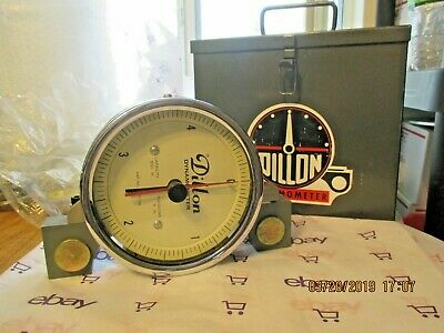 Dillon 500 lb Dynamometer with 5 lb Divisions and Original Case NOS Condition