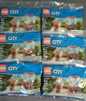 6 CT Lot of Lego City NEW 30364 Popcorn Cart polybag 2019 concession theme park