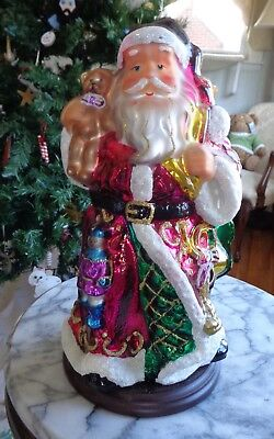 "2004 Thomas Pachoni Classics 14"" Blown Glass Santa"