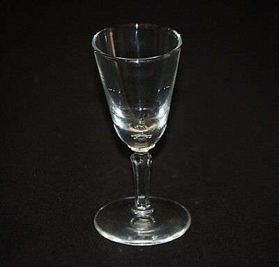 Old Vintage Elegant Clear Cordial Glass Stemware Bar Barware Unknown Maker