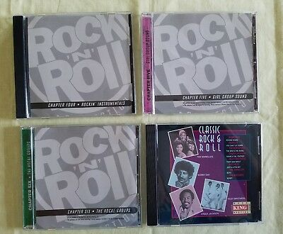 Cd Lot 4 The Ultimate History Of Rock N Roll Chapters 4,5,6 & Classic Rock & Rol