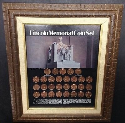 Lincoln Memorial Coin Set 29 Cents Pennies U.S. Coins 1959 - 1971