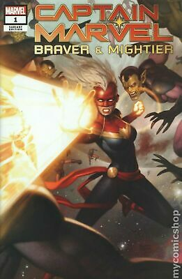 Captain Marvel Braver And Mightier #1 NM eBay Exclusive Ryan Brown Variant