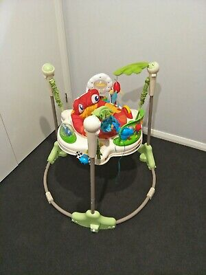 FISHER PRICE 'Rainforest' JUMPEROO Toddler BOUNCER Seat LIGHTS Sounds RRP $180