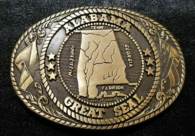 Vintage Tony Lama 1st Edition State Belt Buckles - Choice of State (circa 1970s)