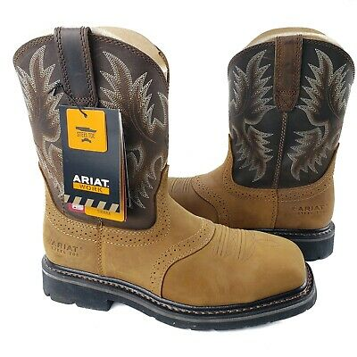7a0ce3a45c3 ARIAT MEN'S SIERRA Wide Square Toe Steel Toe Work Boot - Aged Bark ...