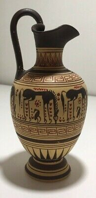 Antique Ancient Oenochoe Greek Pottery Hand Made in Greece
