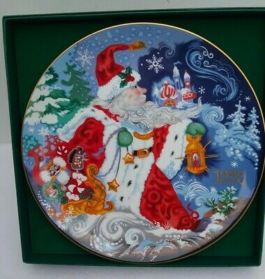 """FITZ AND FLOYD """"Father Frost and the Celebration of Winter"""" 1993 Plate1st Ed EUC"""