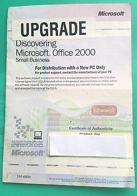 Microsoft Office 2000 Small Business Edition Product Key Upgrade Booklet