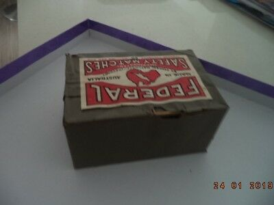 Federal Safety Matches 1930's with War Slogans.