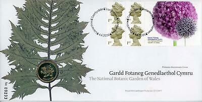 GB 2000 Botanic Garden of Wales Royal Mail/Mint £1 Coin Numismatic FDC