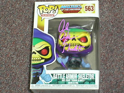 ALAN OPPENHEIMER Signed Battle Armour SKELETOR Funko Pop 563 Autograph PROOF PIC