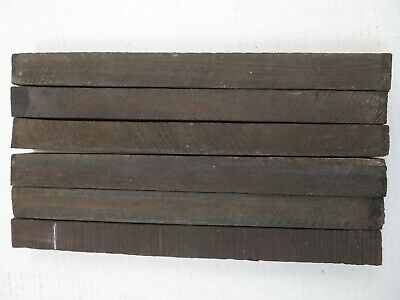 "(6) LOT OF 6,   EBONY WOOD TURNING BLANKS  1"" x 1"" x  12""  FREE SHIPPING IN USA"