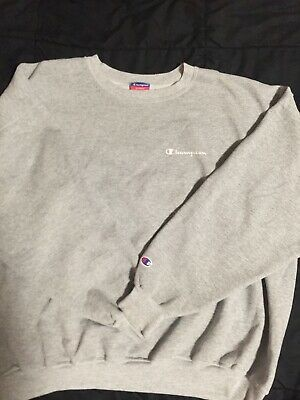 2f902d0b Men's Rare Vintage CHAMPION Spell Out Crewneck Sweatshirt Shirt 90s Gray 2XL