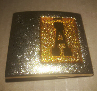LEE Belt Buckle Vintage Initial Letter C Accessory Monogram Gold Tone NY USA