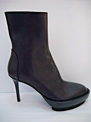0c8f8813236 ANN DEMEULEMEESTER LEATHER Platform Wedge Ankle Boots Size 40 ...