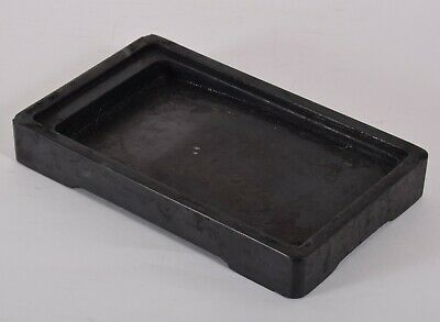 Chinese Ink Stone Well Used Black She Stone