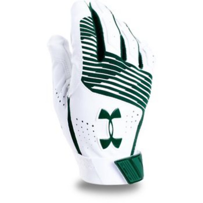 New Under Armour UA Clean Up Youth Batting Gloves Large Green/White