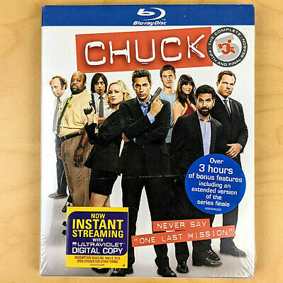 Chuck: The Complete Fifth AND FINAL Season (Blu-ray Disc, 2012, 2-Disc Set) -NEW