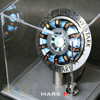 Iron Man Tony Stark MK2 Arc Reactor Display Box USB Powered/Remote Control Prop