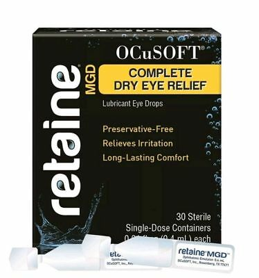 RETAINE by OCuSOFT MGD LUBRICANT EYEDROPS (30 SINGLE DOSE VIALS) (EXP. 10/2021)