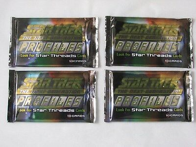 Four (4) Skybox Star Trek Next Generation Profiles Packs Factory Sealed