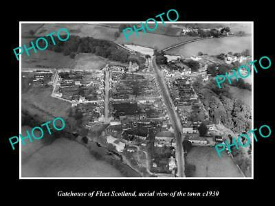 OLD 6 X 4 HISTORIC PHOTO OF GATEHOUSE OF FLEET SCOTLAND, VIEW OF TOWN c1930 2