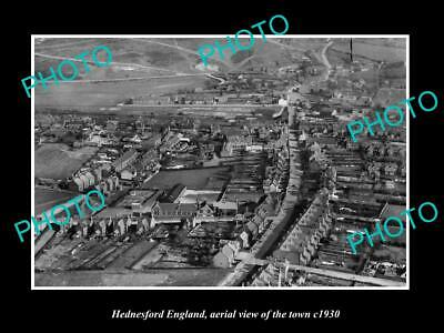 OLD 6 X 4 HISTORIC PHOTO OF HEDNESFORD ENGLAND, AERIAL VIEW OF THE TOWN c1930