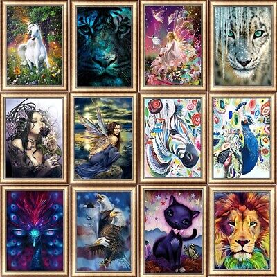 More Animal DIY 5D Diamond Painting Kitten Cross Stitch Kits Home Decor Craft