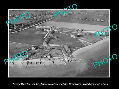 OLD 6 X 4 HISTORIC PHOTO OF SELSEY ENGLAND, THE BROADREEDS HOLIDAY CAMP c1950