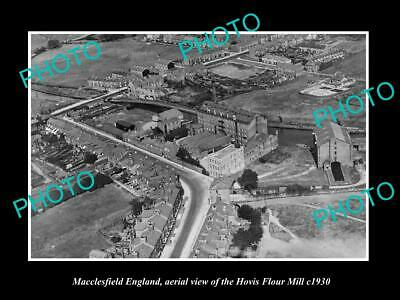 OLD 6 X 4 HISTORIC PHOTO OF MACCLESFIELD ENGLAND, THE HOVIS FLOUR MILL c1930