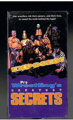 Pro Wrestlings Greatest Secrets Exposed Vhs[1999]Vintage Brand New-Factory Seal