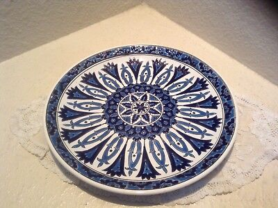"Vintage Greek Nassos Rodos Hellas Keramiko ( 9.5"" ) Decorative Plate"